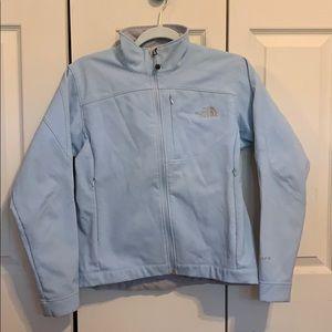 Blue North Face coat